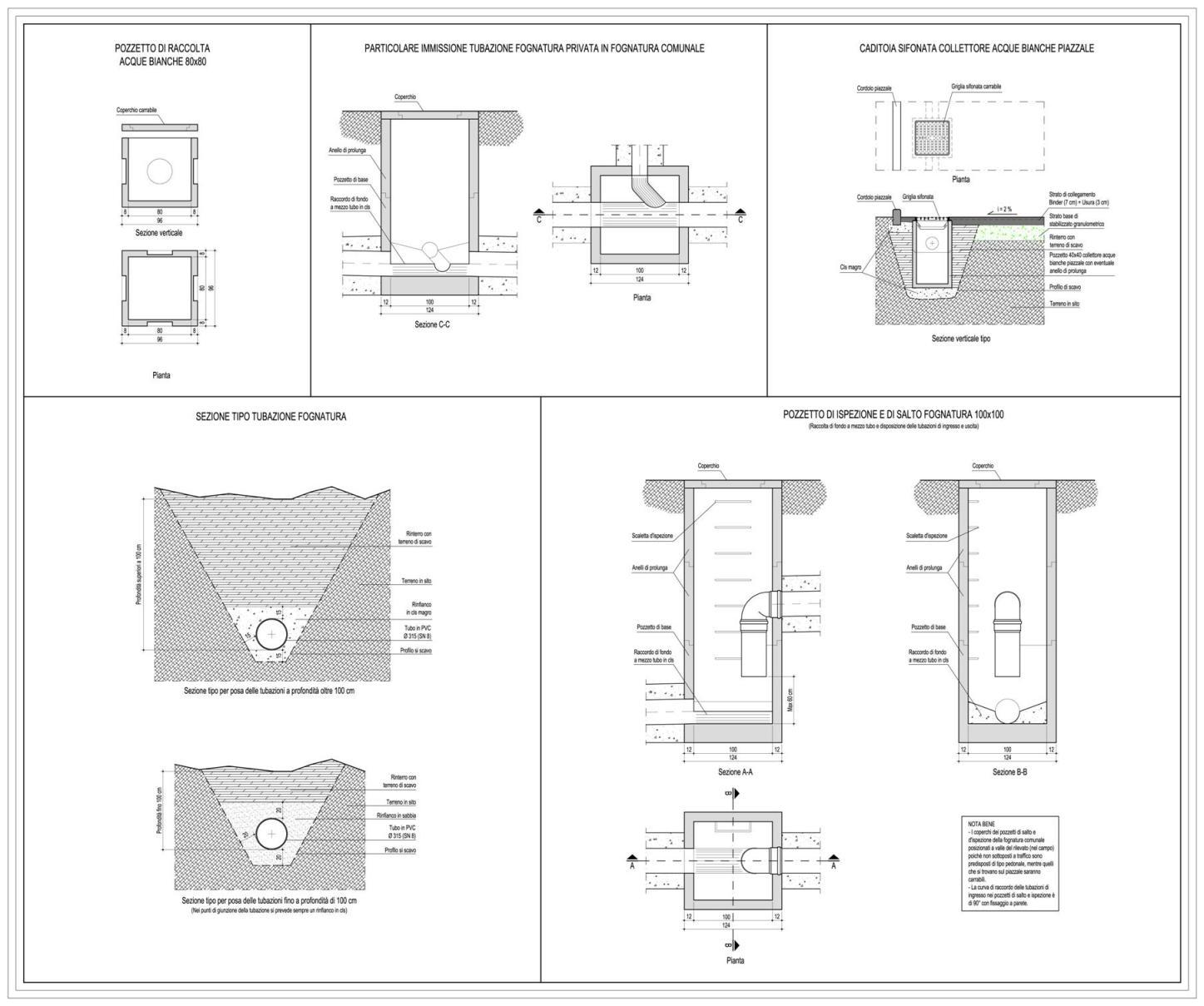 Camerette Ispezione Fognatura Progetti Strutturali Studio